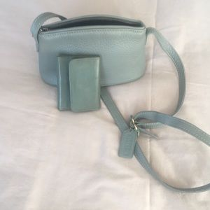 Coach small shoulder bag with matching ID folder